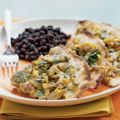 Chicken and Summer Vegetable Tostadas Recipe by cookinglight via ...