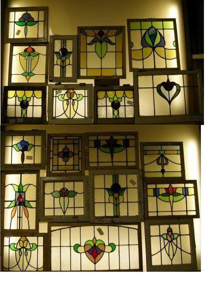 Art deco stained glass stained glass pinterest for Art deco glass windows