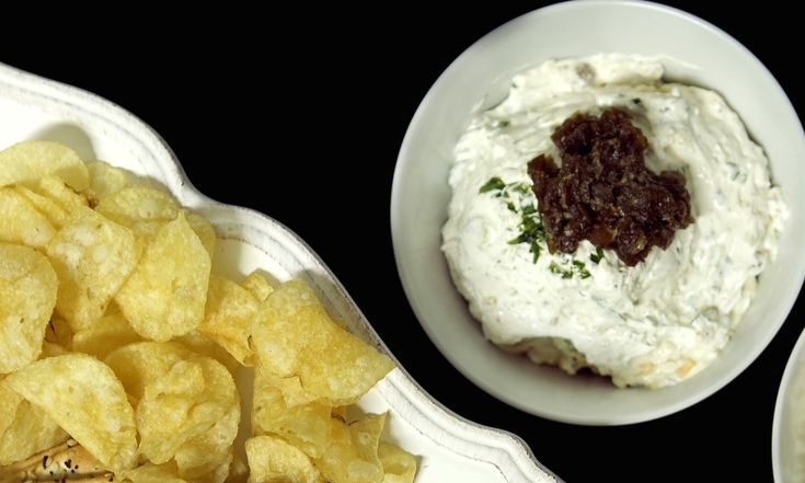 Warm Scallion Dip With Salt And Pepper Potato Chips Recipe ...