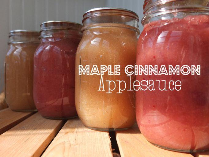 Maple Cinnamon Apple Sauce | Preserving the Harvest | Pinterest