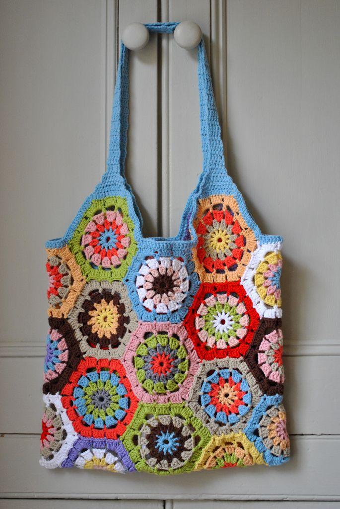 Hexagon Crochet Bag Pattern : Hexagon Bag!