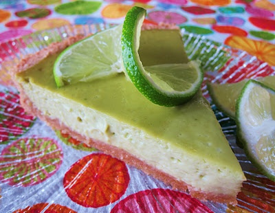 avocado lime cheesecake | Good Eats- if it's not listed as vegan, I w ...
