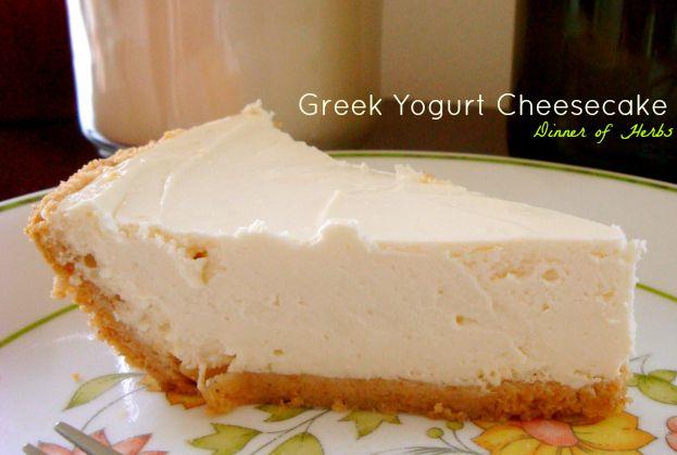 Greek Yogurt Cheesecake | Fitness Food & Exercise | Pinterest
