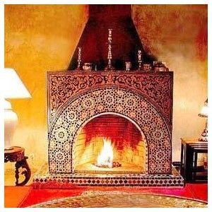 Moroccan Tiled Fireplace Moroccan Room Pinterest