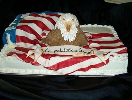 Cake Designs Usa : Bald eagle & USA flag cake Ideas galore Pinterest