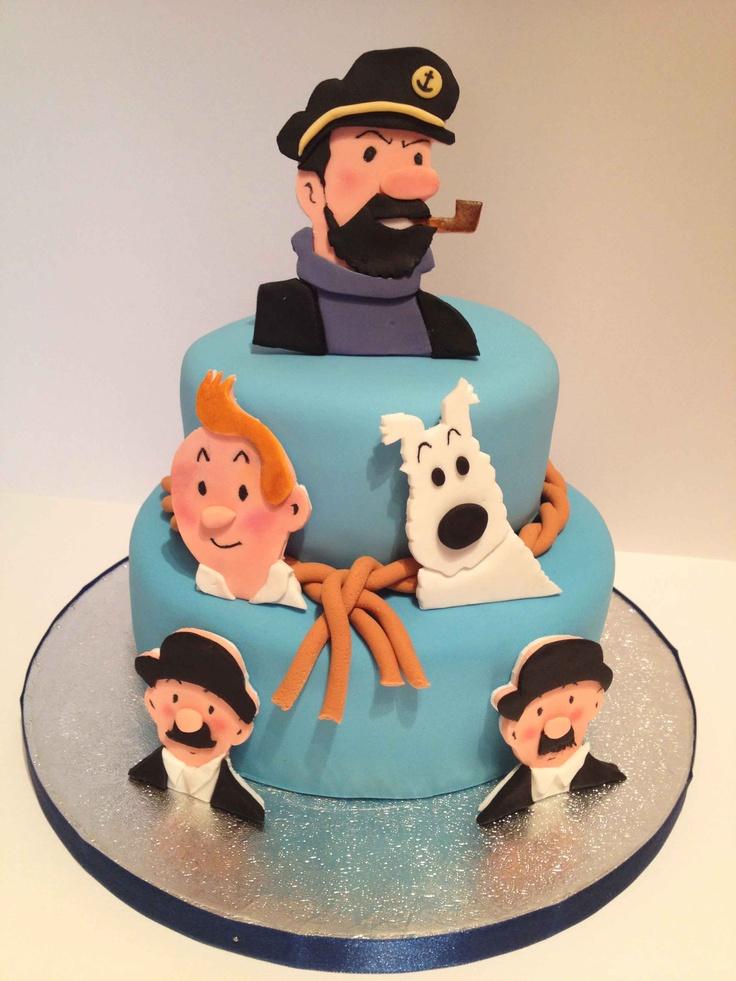 Tintin cake • Tintin gateaux  For Cesar  Pinterest