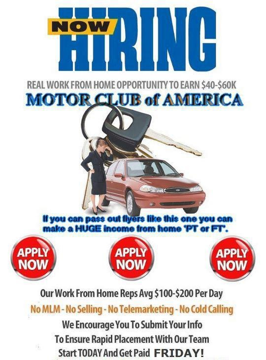 Pin by adrienne whalen on earn extra income pinterest Motor club of america careers