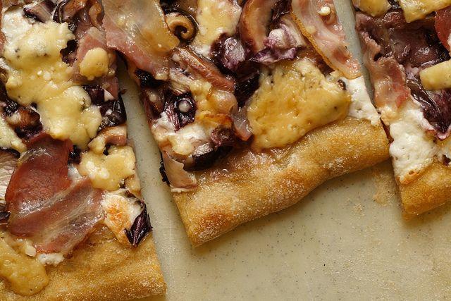 radicchio, pancetta and mushroom pizza | Live to Eat | Pinterest