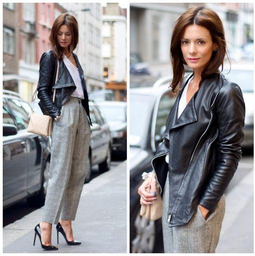 dressed up leather jacket