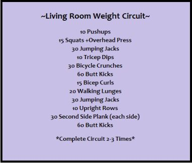 Living room weight circuit circuit workouts pinterest for Living room workout