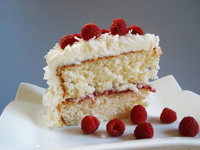 Coconut Raspberry Cake | Cake Recipes | Pinterest