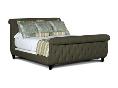 Queen Upholstered Panel Bed Bed With Uph Headboard Footboard Queen