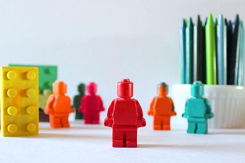 Melted Crayon Lego Man!