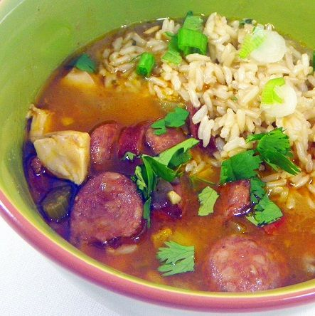 Chicken and Sausage Gumbo. Cold weather is hitting and that means ...
