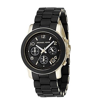 "Michael Kors ""Jet Set"" Black-Dial Chronograph Watch   Dillards.com"