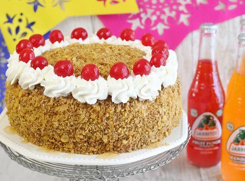 fried ice cream layer cake. | Amazing Cakes & Pastries! | Pinterest