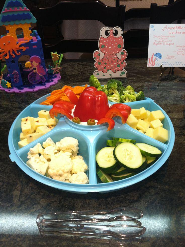 nautical baby shower crabby veggie tray baby girl shower pinterest