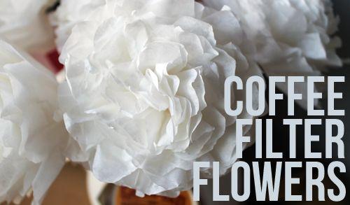 Creating Coffee FilterFlowers