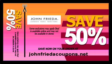 picture relating to John Frieda Coupons Printable referred to as Coupon for absolutely free john frieda hair coloration : Great wi-fi discounts au