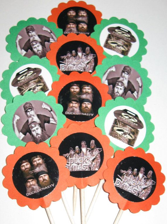 Duck Dynasty Cupcake Toppers/Party Picks (item 244) on Etsy, $6.00