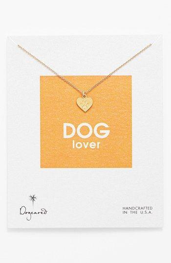 UM LOVE - Dogeared 'Reminder - Dog Lover' Boxed Pendant Necklace