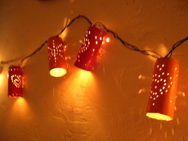 Soda can & Christmas lights! Lights & Lamps Pinterest