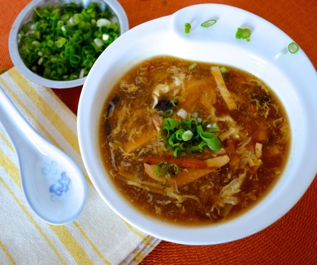 HOT AND SOUR SOUP via woks of life