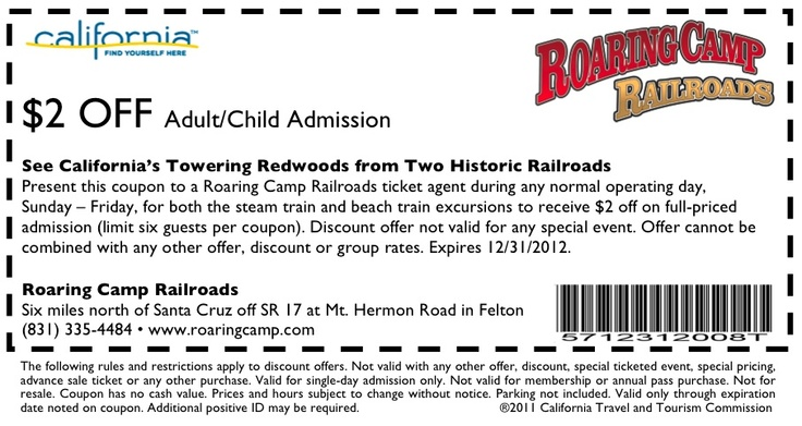 Roaring train coupon