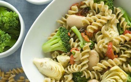 Whole Wheat Pasta with Pesto and Artichokes | Recipe