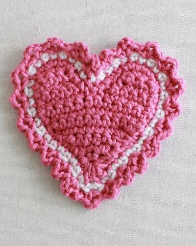 Heart Coaster Knitting Pattern : Free Crochet Pattern Heart Coaster Valentine Crochet ...