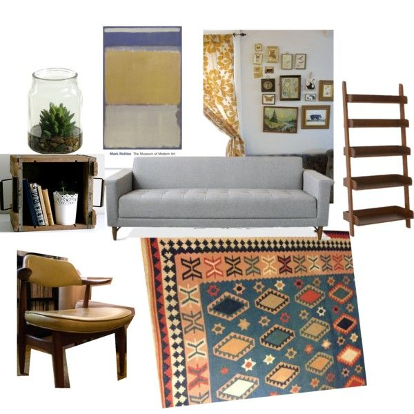 Possible living room set up using some furniture we already have and a