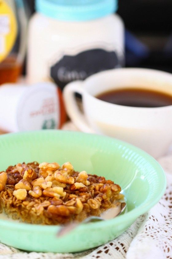 Maple Nut Baked Oatmeal - Eat, Live, Run (recipe needs modified for healthy eating)