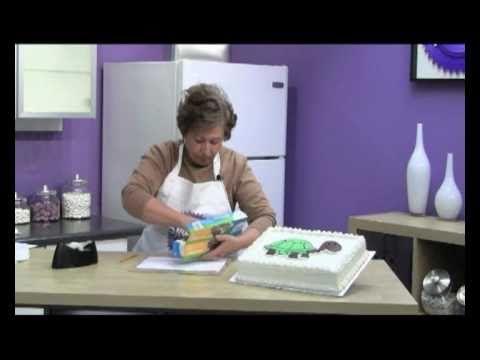Cake Decorating Frozen Buttercream Transfer : Decorating with Frozen Buttercream Transfers