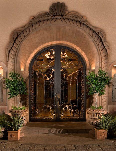 Colletti Design Iron Entry Doors Mediterranean Tuscan