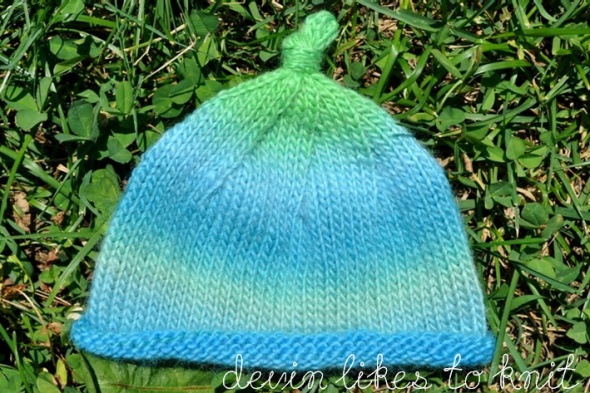 Knitting Pattern For Rolled Brim Baby Hat : easy baby hat Knitting Patterns and Ideas Pinterest