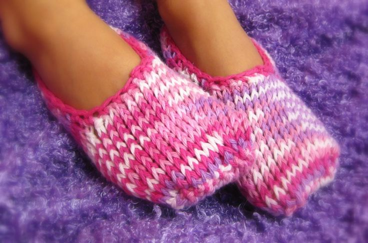 Childrens knitted slippers Crochet & Knitted: Slippers Pinterest