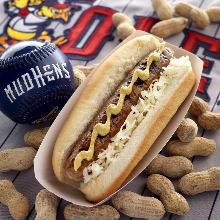 ... Bratwurst is topped with delicious spicy brown mustard and grilled