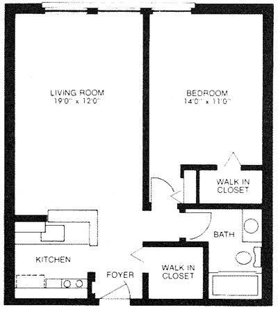 One Bed One Bath 600 Sq Ft Home Floor Plans Pinterest