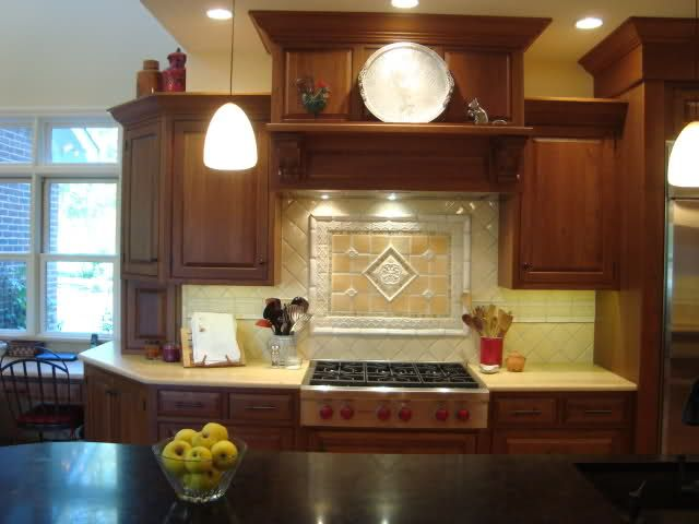 Backsplash over stove for the house hair and everywhere for Kitchen ideas no window