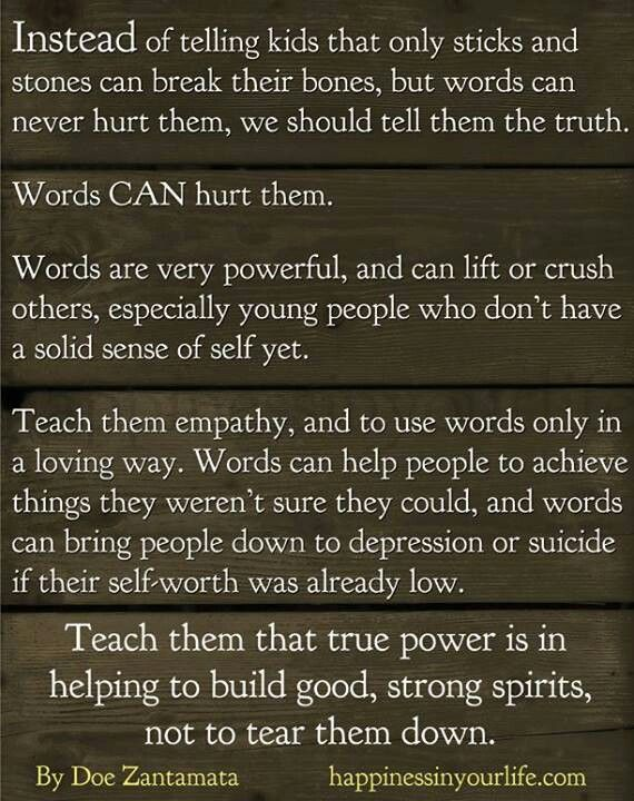 Words can hurt | Quotes | Pinterest