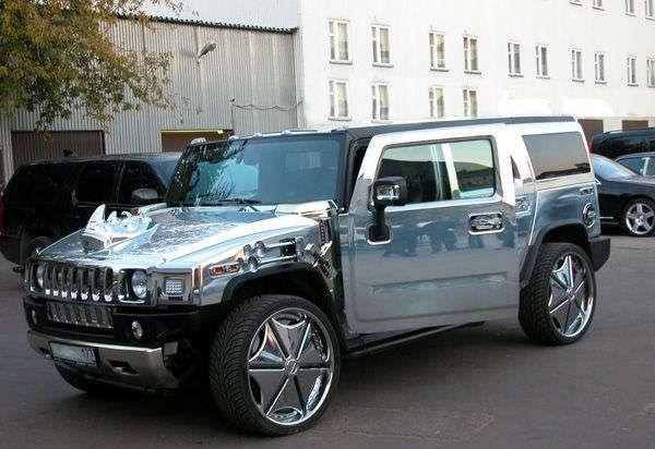 Chrome Car Wrap >> Chrome Hummer with Rhino hood ornament | CHROME | Pinterest