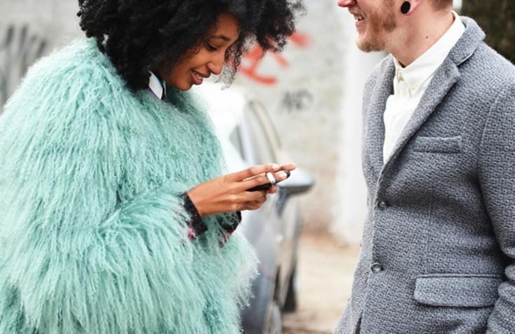 mint fur, faux fur, faux fur coat, street style, angela blick, pastel, pastel fur, mint, shaggy fur coat,