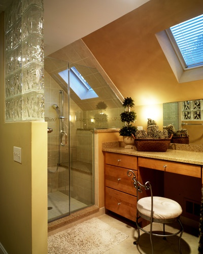 bathroom sloped ceiling design love want pinterest
