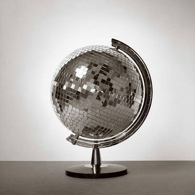 up-cycled disco ball globe
