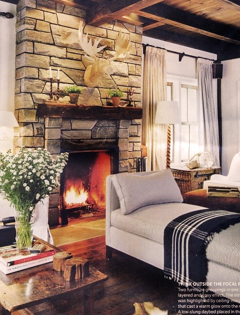 Cozy Living Room W Stone Fireplace Cozy Office Den Pinterest