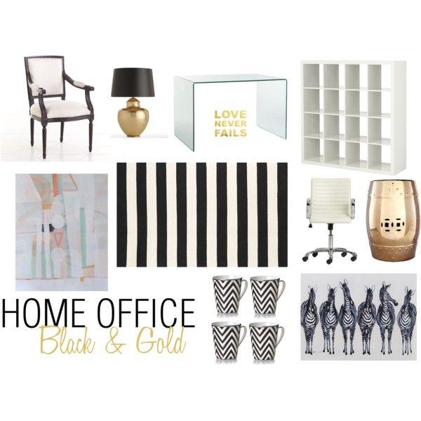 Home Office Decor Black Gold Office Pinterest