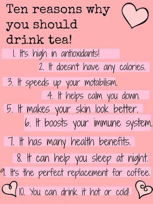 Drink tea! I love tea!