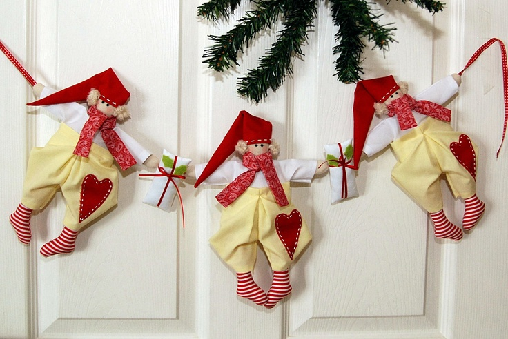 Tilda's Elfin garland Christmas - handmade decoration..
