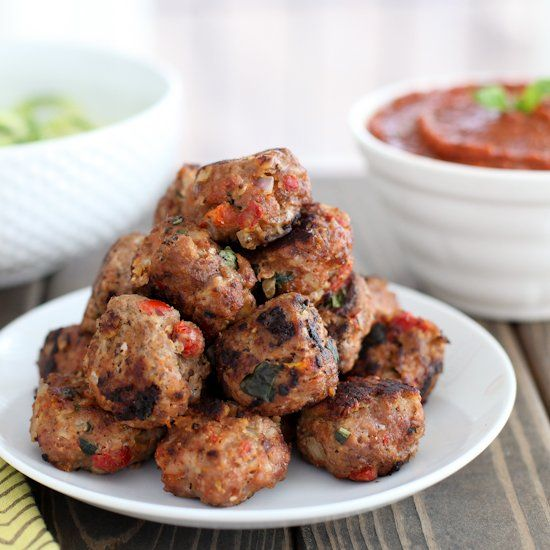 Italian Turkey Meatballs With Sun-Dried Tomato And Basil ...