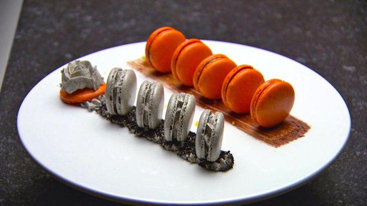 Jaffa & black sesame macarons | Sweet Treats | Pinterest